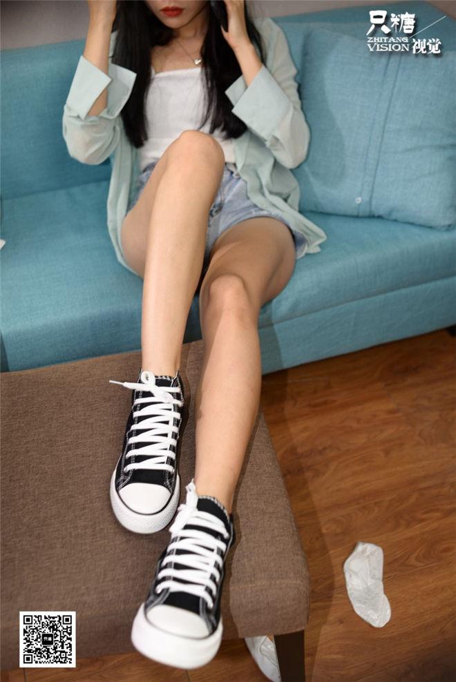 只糖棉袜-NO.027文文高帮帆布鞋与蕾丝船袜[/689MB]