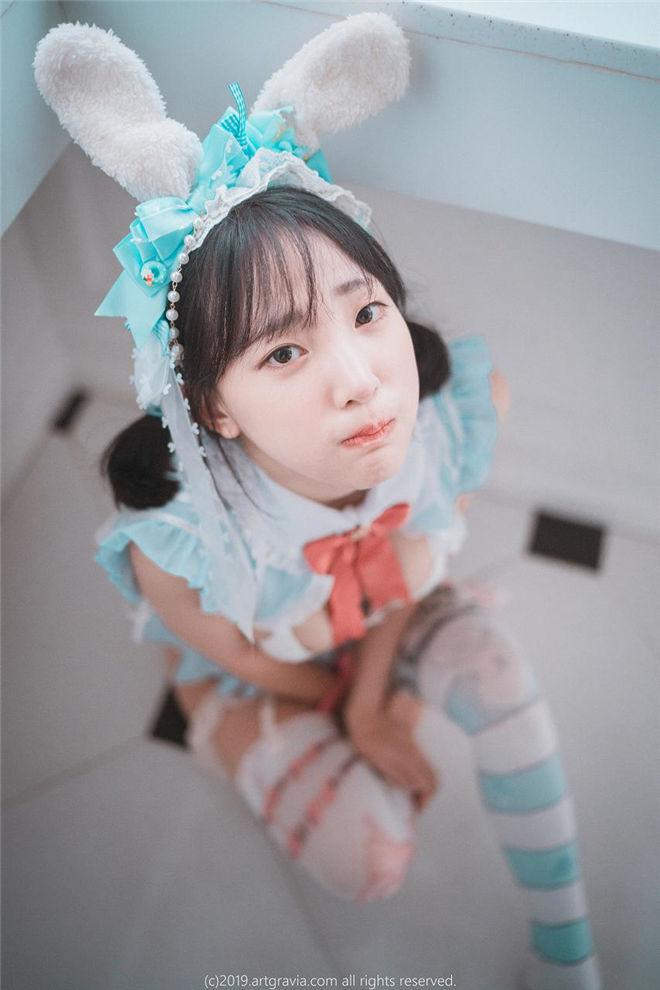 姜仁卿ARTGRAVIA-蓝色兔装裙[/391MB]