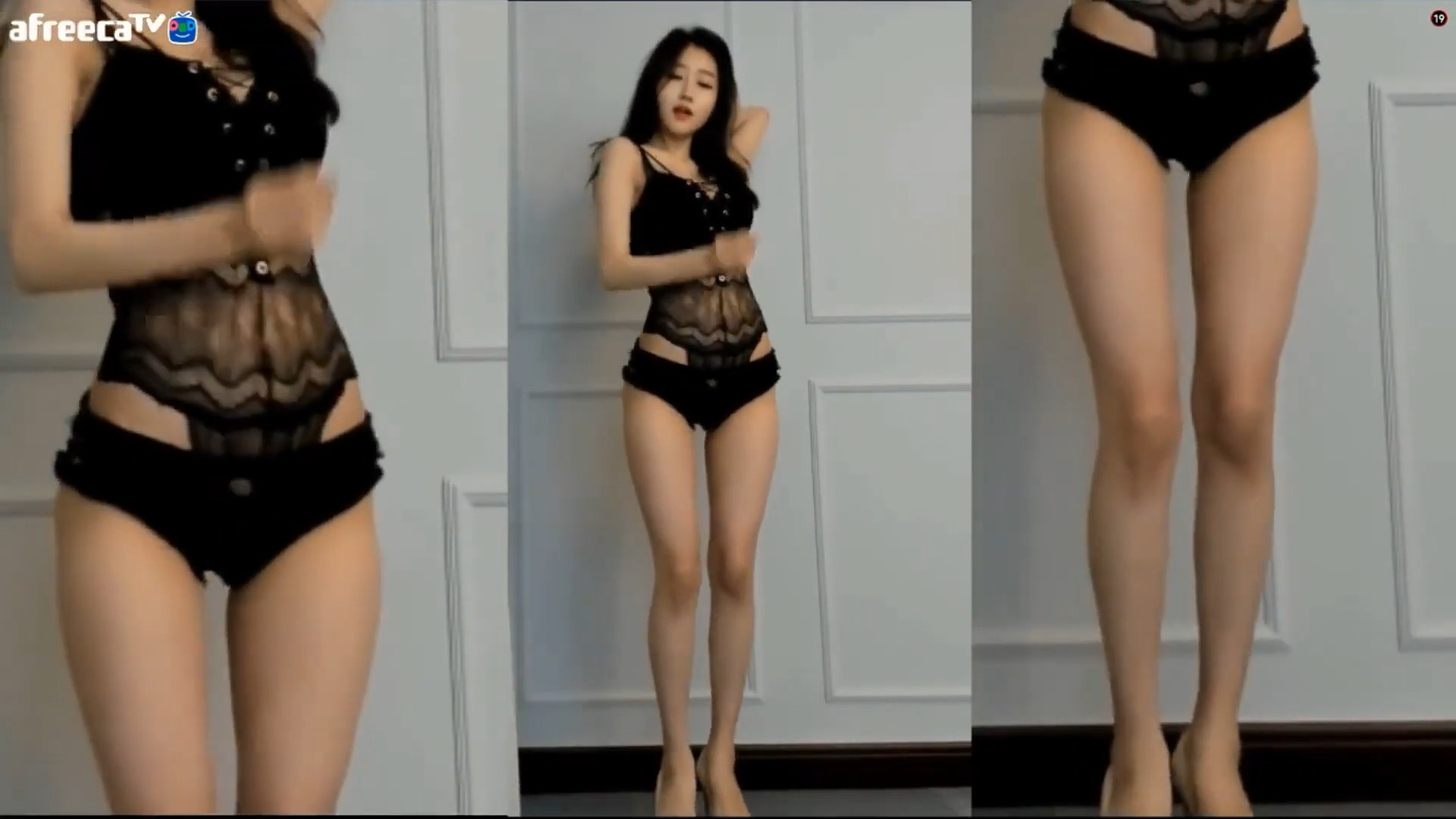 KOREA BJ SEOA 徐雅 蕾丝上衣黑超短裤[1080P]