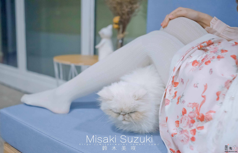 铃木美咲(Misaki Suzuki)软软趴在床单上-猫咖咖啡厅(52P+2V 606M)
