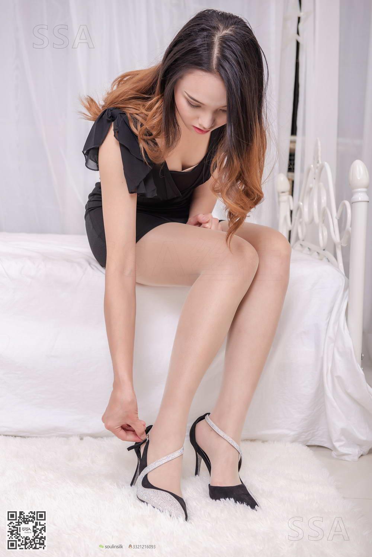 [SSA丝社]超清写真 NO.168 蓉蓉 黑色连衣裙肉丝裸足[/1.85GB]